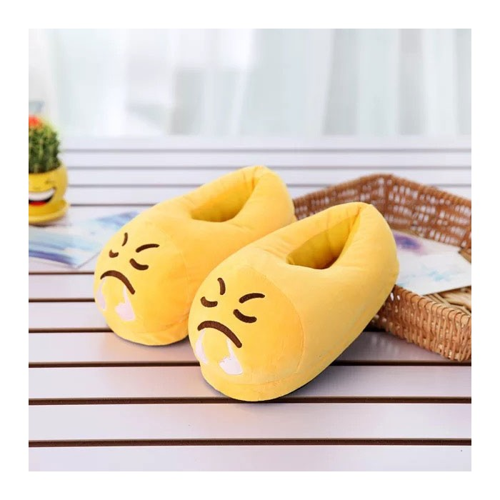 Pantoufle Emoji Chaussons Smiley Enerve Adulte